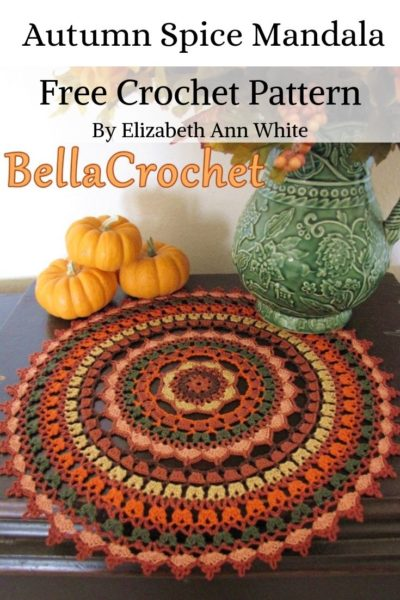 Free Crochet Pattern Autumn Spice Mandala