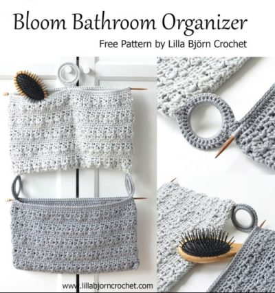Free Crochet Pattern Bloom Bathroom Organizer