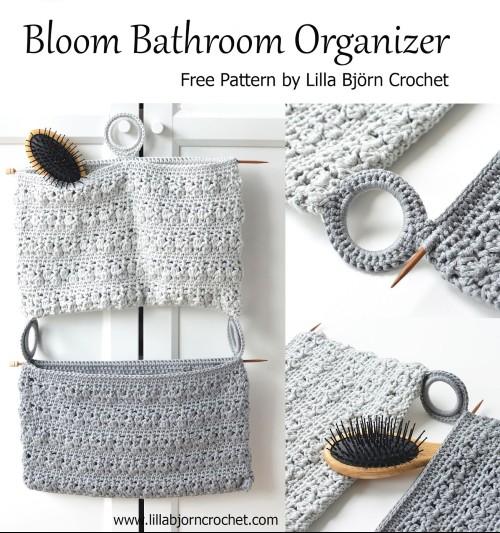 Free Crochet Pattern Bloom Bathroom Organizer