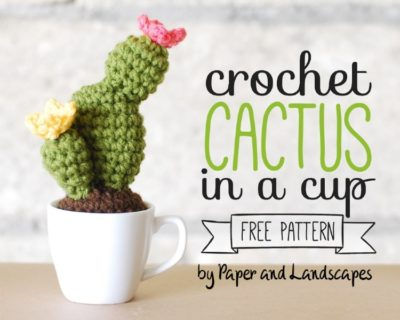 Free Crochet Pattern Cactus in a Cup
