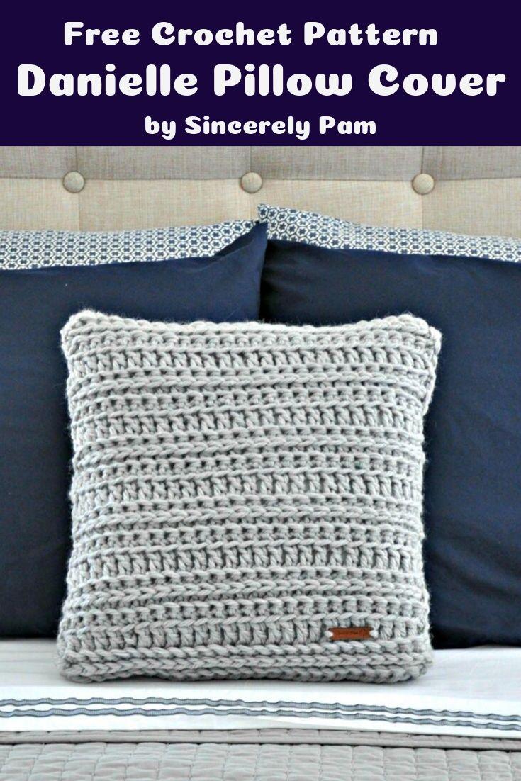 Free Crochet Pattern Danielle Pillow Cover