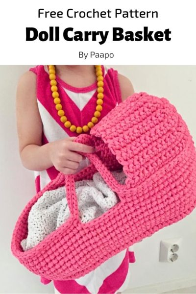 Free Crochet Pattern Doll Carry Basket