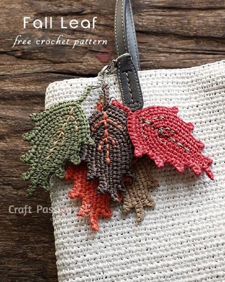 Free Crochet Pattern Fall Leaf