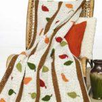 Free Crochet Pattern Fallen Leaves Afghan