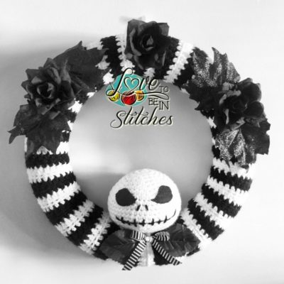 Free Crochet Pattern Jack Skellington Wreath