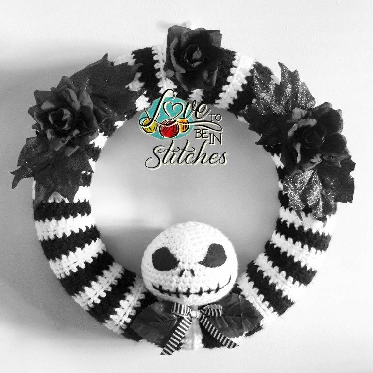 Free Crochet Pattern Jack Skellington Wreath