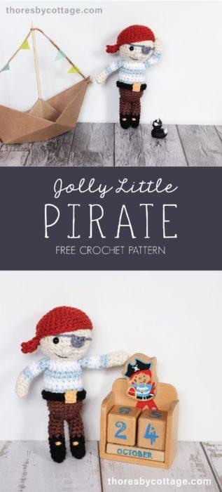 Free Crochet Pattern Jolly Little Pirate