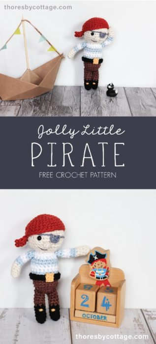 Free Crochet Pattern Jolly Little Pirate
