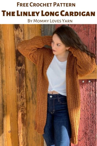 Free Crochet Pattern Linley Long Cardigan