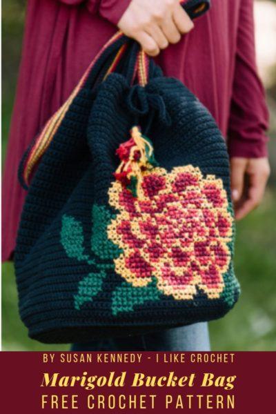 Free Crochet Pattern Marigold Bucket Bag