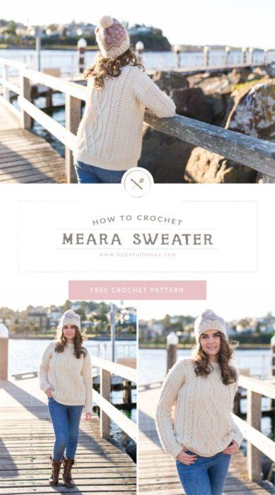 Free Crochet Pattern Meara Sweater