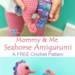Free Crochet Pattern Mommy and Me Seahorse