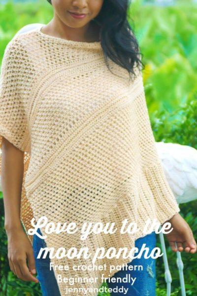 Free Crochet Pattern Moon Poncho