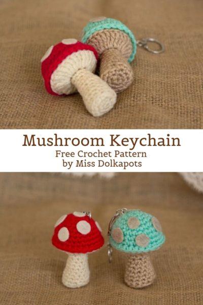 Free Crochet Pattern Mushroom Keychain