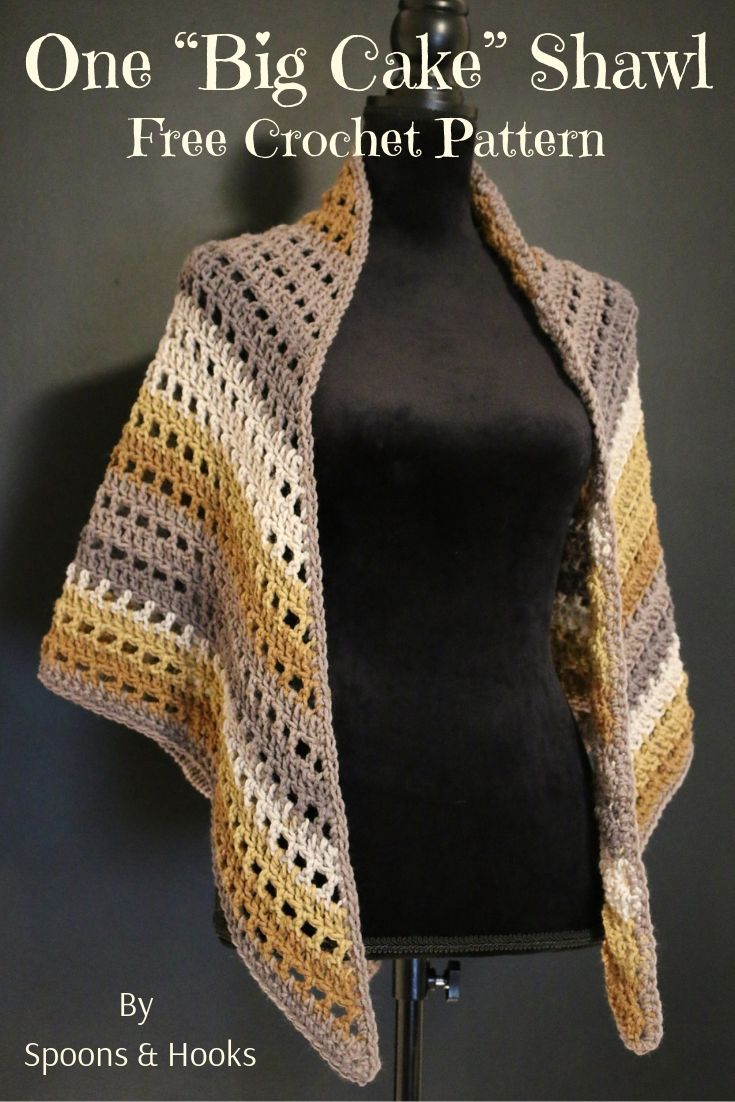 Free Crochet Pattern One Big Cake Shawl