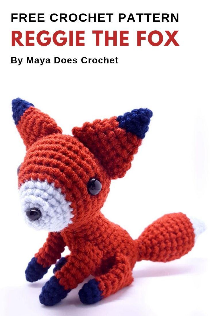 Ginger the adorable crochet fox amigurumi ready to ship | 1102x735