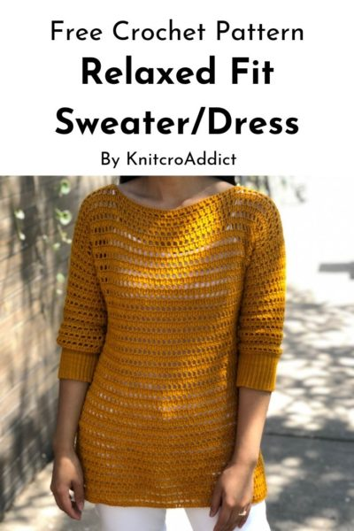 Free Crochet Pattern Relaxed Fit Sweater
