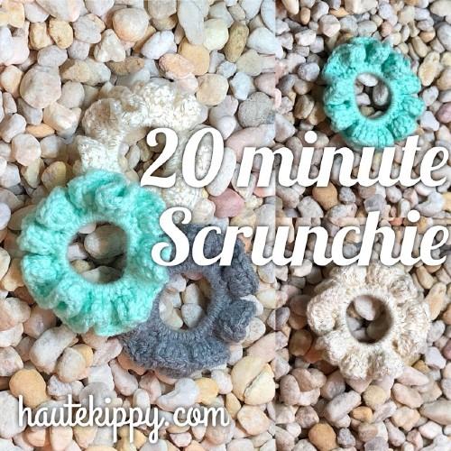 Free Crochet Pattern Scrunchie