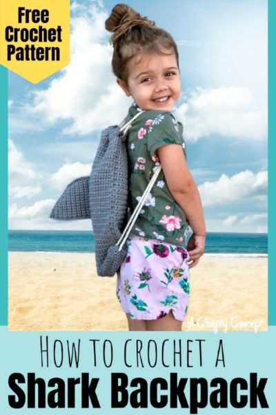 Free Crochet Pattern Shark Backpack