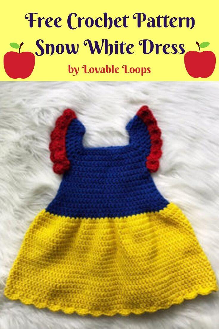 Free Crochet Pattern Snow White Dress