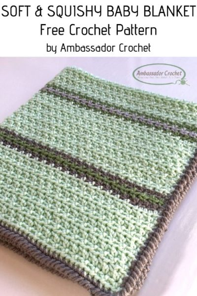 Free Crochet Pattern Soft Baby Blanket