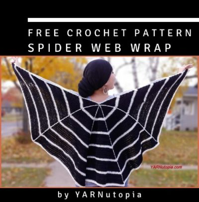Free Crochet Pattern Spider Web Wrap