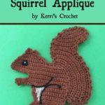 Free Crochet Pattern Squirrel Applique