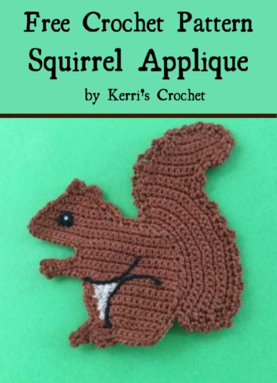 Free Crochet Pattern Squirrel Applique