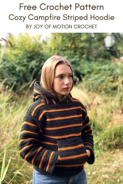 Free Crochet Pattern Striped Hoodie
