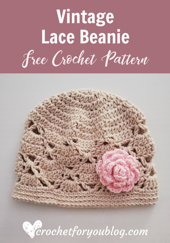 Free Crochet Pattern Vintage Lace Beanie