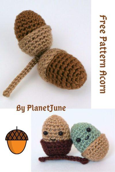 Free Crochet Pattern Acorn