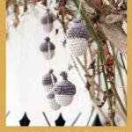 Free Crochet Pattern Acorn Garland