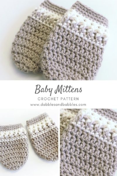 Free Crochet Pattern Baby Mittens