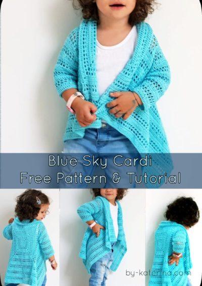 Free Crochet Pattern Blue Sky Cardi