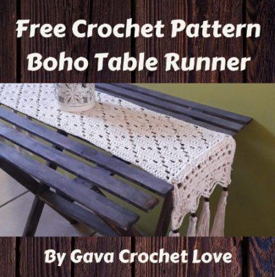Free Crochet Pattern Boho Table Runner