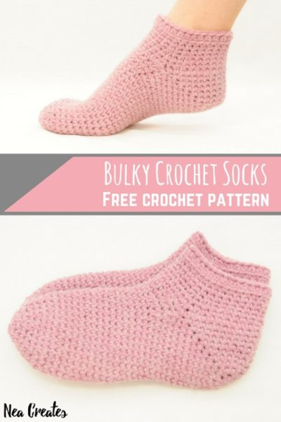 Free Crochet Pattern Bulky Socks