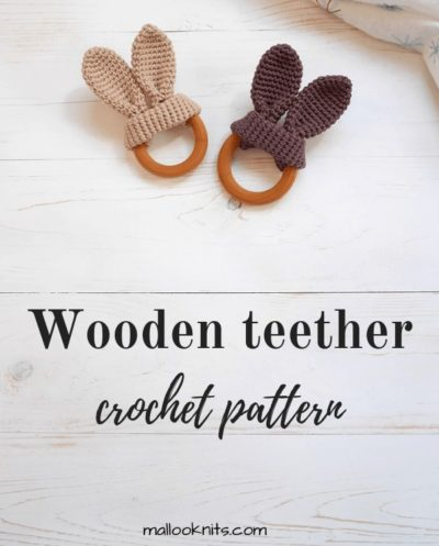 Free Crochet Pattern Bunny Ears Teether