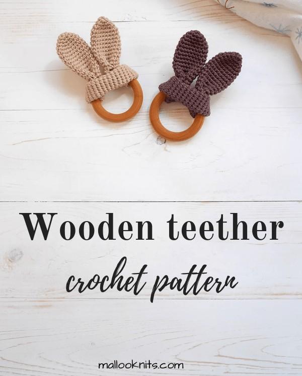 Free Crochet Pattern Bunny Ears Teether