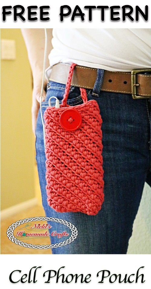 Free Crochet Pattern Cell Phone Pouch