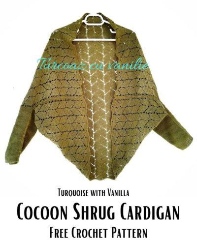 Free Crochet Pattern Cocoon Shrug Cardigan