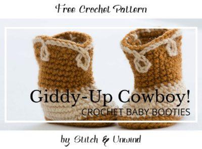 Free Crochet Pattern Cowboy Baby Booties