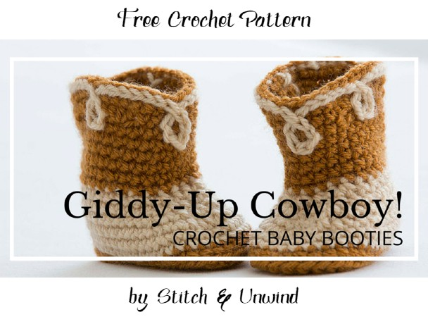 Free Crochet Pattern Cowboy Baby Booties