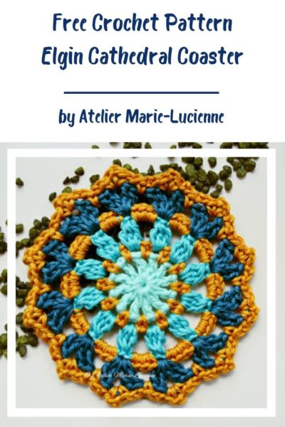 Free Crochet Pattern Elgin Cathedral Coaster