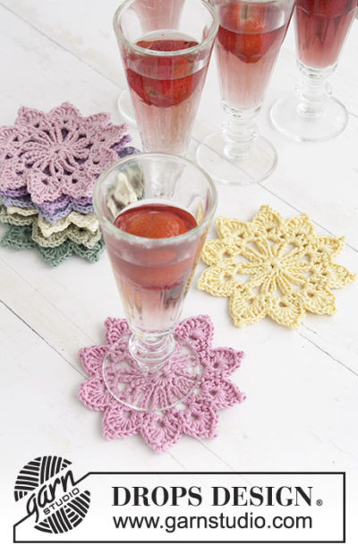 Free Crochet Pattern Floral Toast Coasters