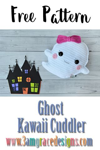 Free Crochet Pattern Ghost Kawaii Cuddler