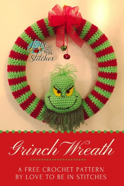 Free Crochet Pattern Grinch Wreath