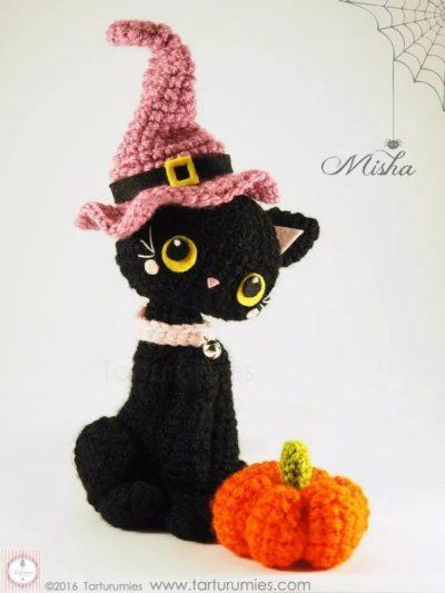 Free Crochet Pattern Halloween Kitten Misha