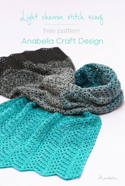 Free Crochet Pattern Light Chevron Scarf
