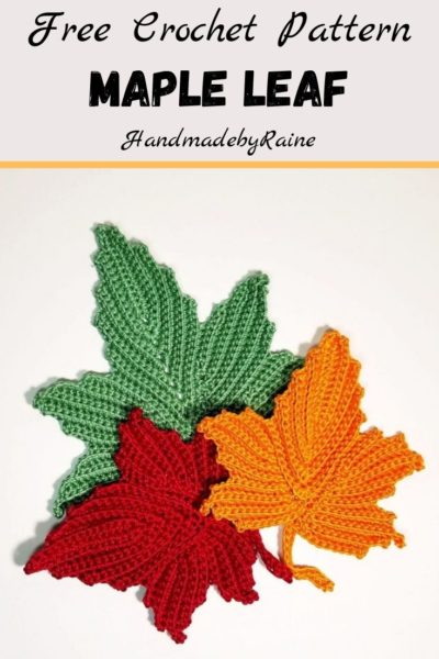 Free Crochet Pattern Maple Leaf