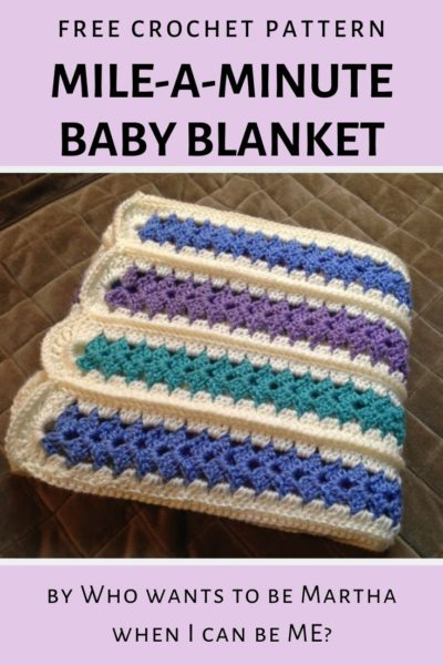 Free Crochet Pattern Mile a Minute Baby Afghan